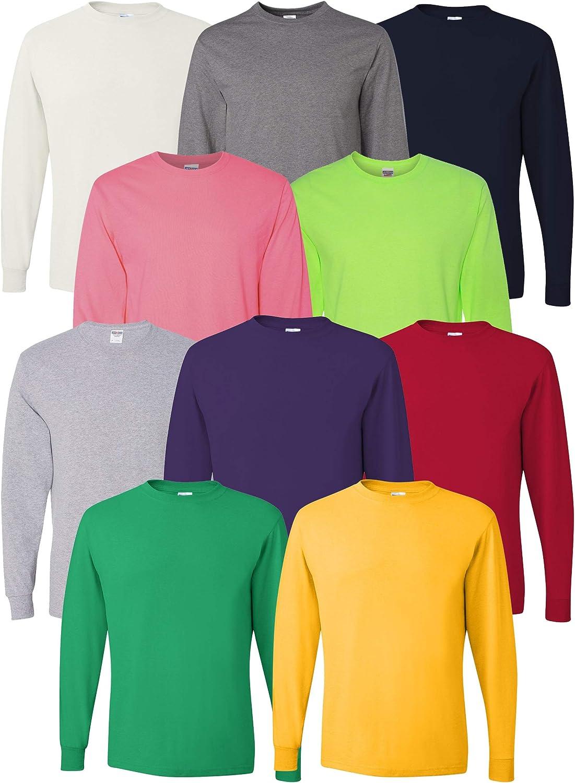 Multipack Jerzees Bundle Dri-Power Men 付与 輸入 Long Bulk Sleeve T-Shirt