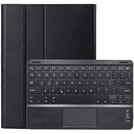 HaoHZ Funda con Teclado para Galaxy Tab S7 Plus 12.4 2020, Teclado inalámbrico extraíble con trackpad Funda de Piel para Galaxy Tab S7 (SM-T970 / T975 ...