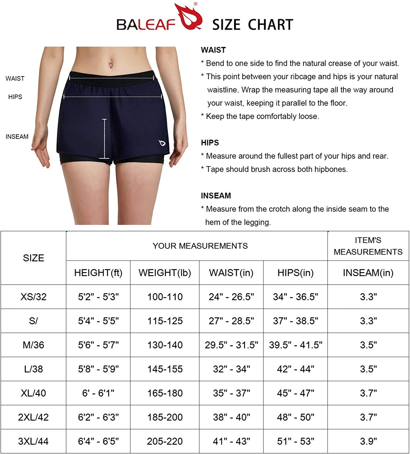 BALEAF Womens Comfy Active Sport Shorts Compression Running Shorts with Lining