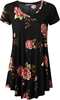 URBANCLEO Womens Short Sleeve Long Tunic Top T-Shirt Dress (Plus
