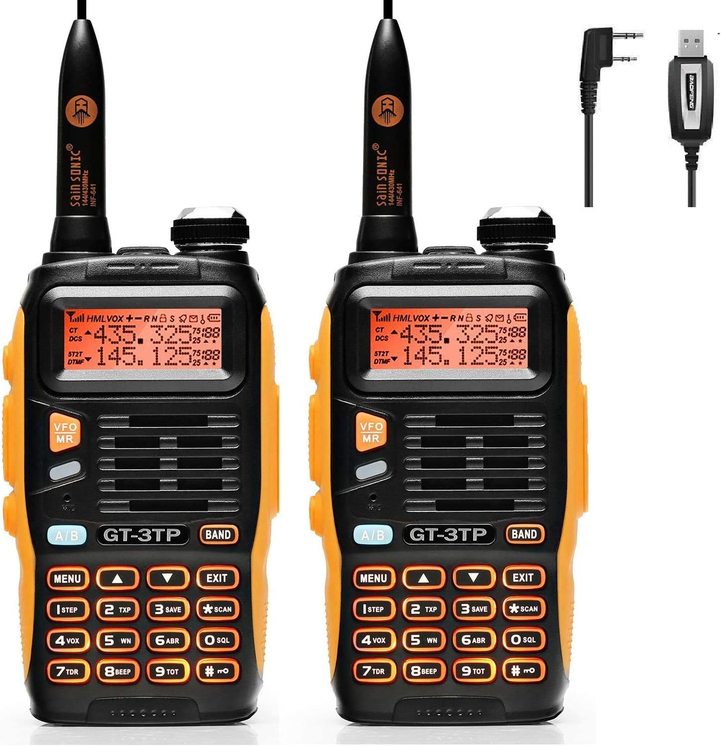 Baofeng gt-3tp mark iii - walkie-talkie, 8w (2 pcs with programming cable).