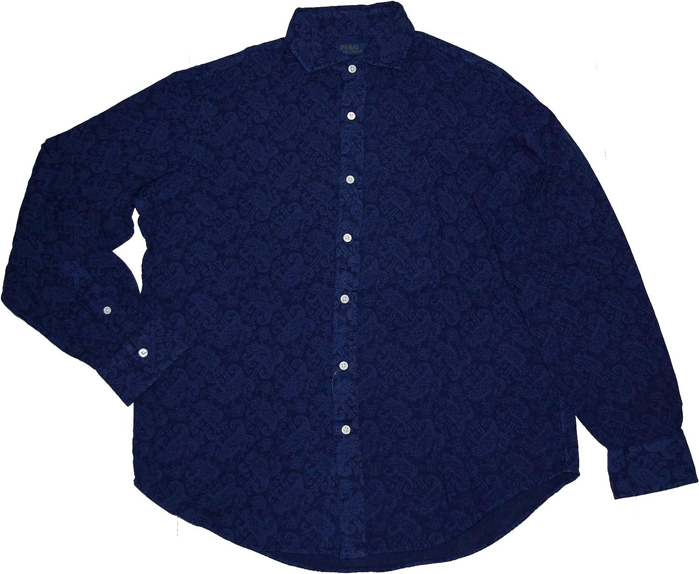 Polo Ralph Lauren Men's Classic Fit Indigo Paisley Shirt Large L