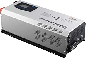 5000W Peak 15000watts Pure Sine Wave Power Inverter 48V DC to 120/240 VAC Split Phase with Battery AC Charger,Off Grid Low Frequency Solar Inverter