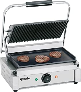 Grill contact Panini, nervuré/lisse