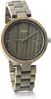 Angie Wood Creations Wooden Women's Watch with Multi-Link Bracelet