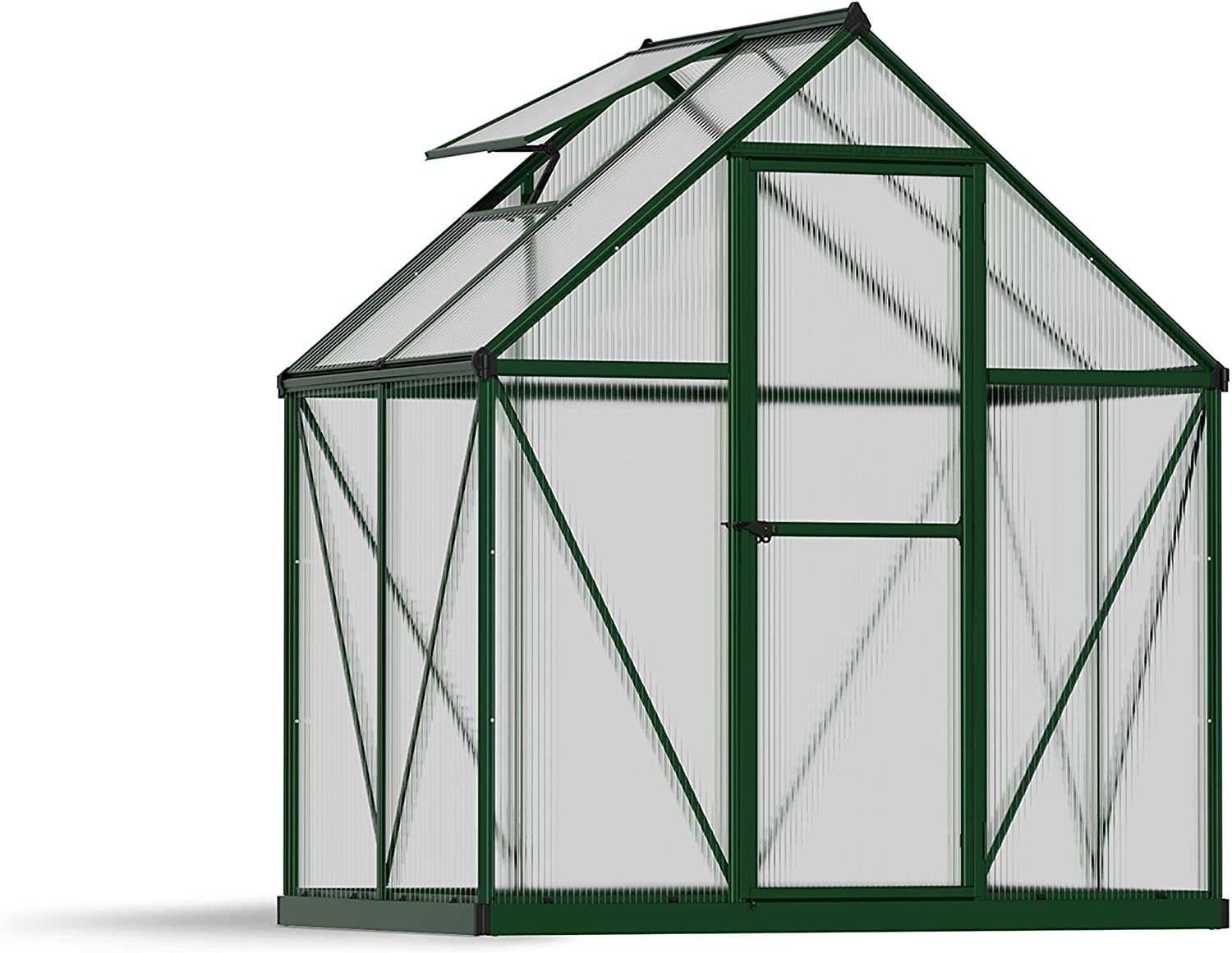 Palram HG5005GPH Factory outlet Mythos In a popularity Greenhouse 6x4 Hangers in Plant Green