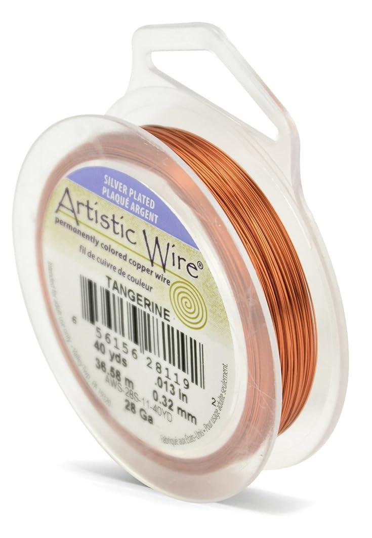Beadalon Artistic Wire 28-Gauge Silver Plated Tangerine Wire, 40-Yards