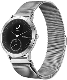 LeafBoat Compatible with Nokia/Withings Steel HR Sport Smartwatch Steel Band (40mm), Metal Mesh Loop Replacement Band Compatible Nokia/Withings Steel HR Sport Smartwatch