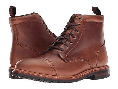 Florsheim Foundry Cap Toe Lace-Up Boot (Saddle Tan Horween) Men