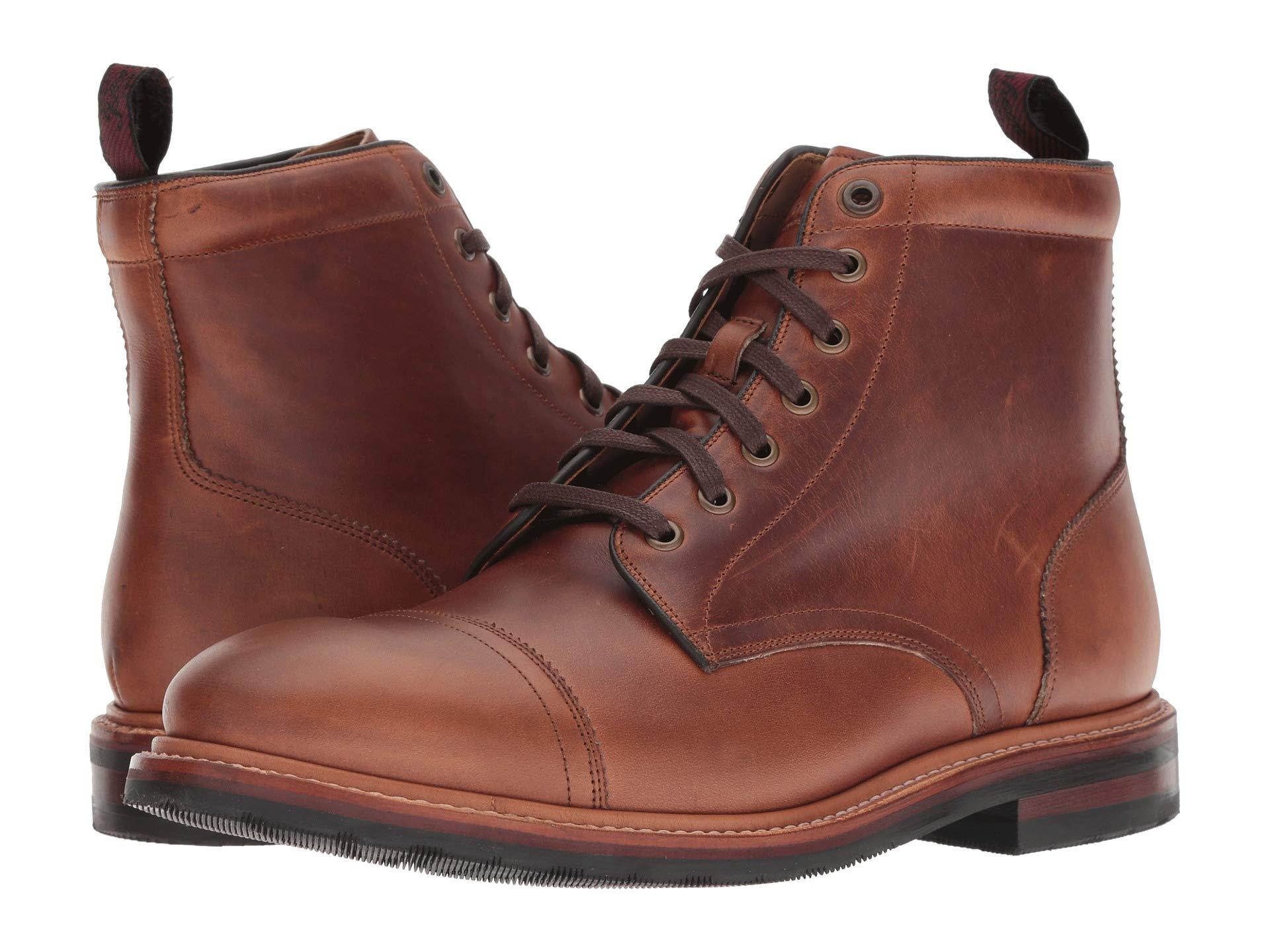 Florsheim Toe Saddle Foundry Tan Boot Lace up Horween Cap qOwFRCrq