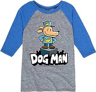 Dog Man On Pedistal - Youth Raglan