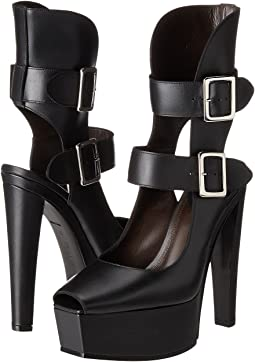 Stacked High Heel with Double Ankle Straps