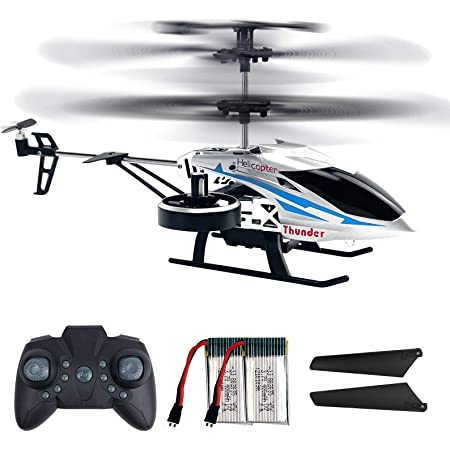 Remote Control Helicopters, 2.4G Flying Toys with 4 Channel for Boys, Toy Helicopter with Altitude Hold, LED Lights, 2 Speed Modes, Indoor/Outdoor Toys for Kids and Beginners