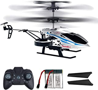 Remote Control Helicopters, 2.4G Flying Toys with 4 Channel for Boys, Toy Helicopter with Altitude Hold, LED Lights, 2 Spe...