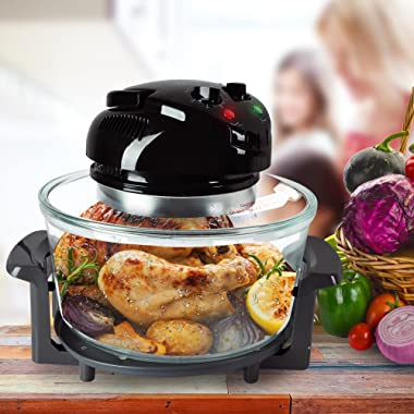 NutriChef Convection Countertop Toaster Oven - Healthy Kitchen Air Fryer Roaster Oven, Bake, Grill, Steam Broil, Roast &