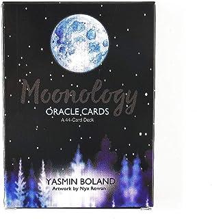 Moonology Oracle 完全英語版のタロットデッキとEGuideブックEinstructionカードゲーム運命告知ゲームセット運命予測カードゲーム