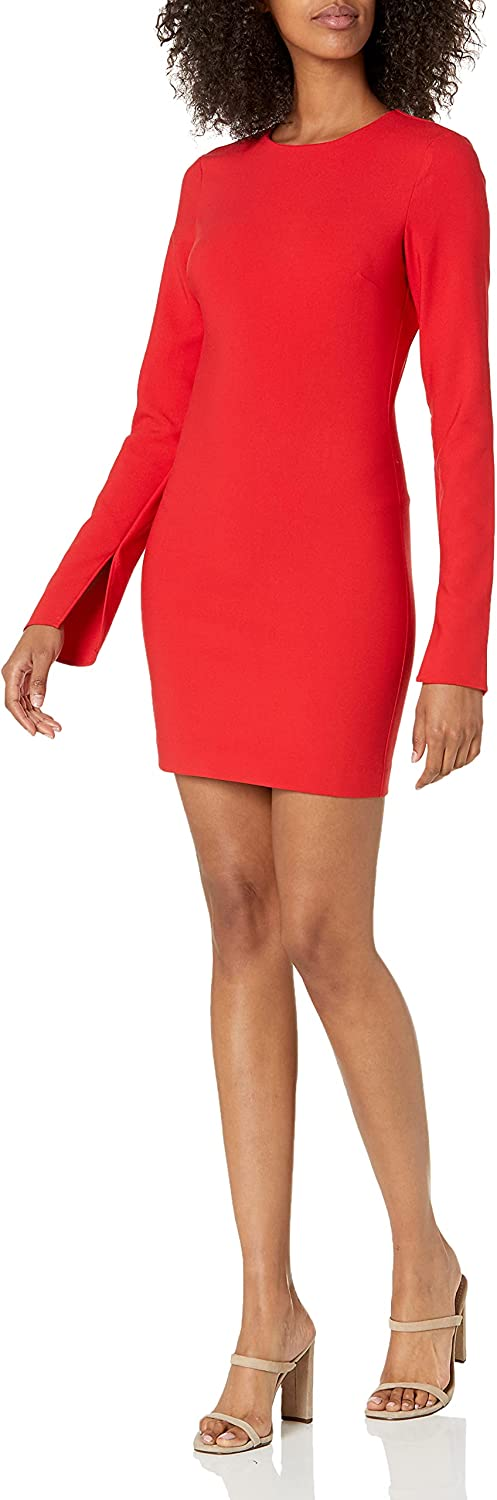 LIKELY womens Likely Long Sleeve Manhattan Mini Cocktail Dress