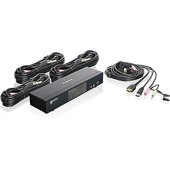 IOGEAR 4-Port HDMI Multimedia KVM Switch with Audio, USB 2.0 Hub and HDMI KVM w/Full Set of Cables, (GCS1794 TAA Compliant)