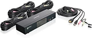 IOGEAR 4-Port HDMI Multimedia KVM Switch with Audio, USB 2.0 Hub and HDMI KVM w/Full Set of Cables, (GCS1794 TAA Compliant)
