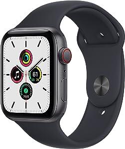 Apple Watch SE (GPS + Cellular, 44mm) - Space Grey Aluminium Case with Midnight Sport Band - Regular