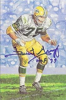 Forrest Gregg Autographed Green Bay Packers Goal Line Art Card Blue HOF 11474 - NFL Autographed Football Cards
