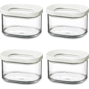 1000/ml pl/ástico Rosti Mepal 106913030600/Modula Bote 4/unidades transparente//blanco