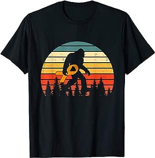 Bigfoot hold Ribbon Kidney Cancer Awareness shirt gift T-Shirt