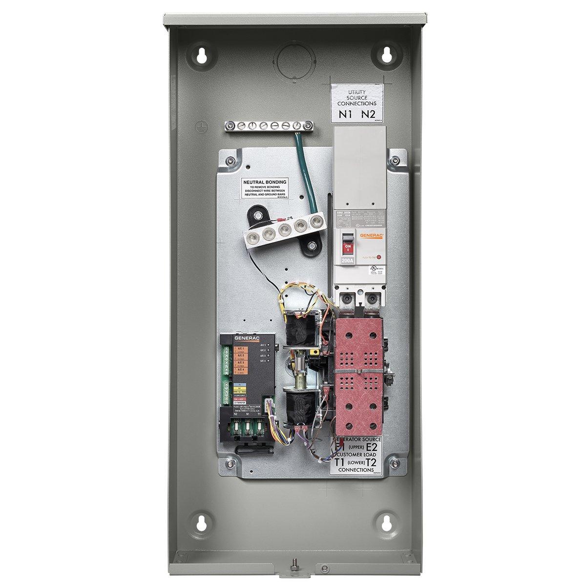 Amazon.com: Generac RXSW200A3 200 AMP Smart Transfer Switch: Garden &  OutdoorAmazon.com