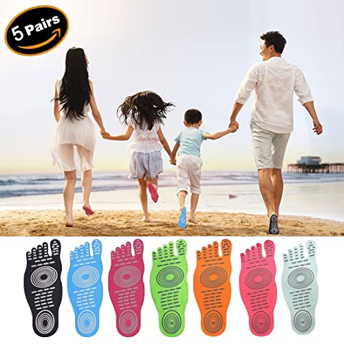 best loved b090a 83fcc Jusinhel Beach Foot Pads for Barefoot Invisible Shoes Sticker Flexible Feet  Protect Heatproof Waterproof