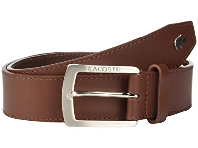 Lacoste Thick Buckle Belt (Narcissus/Navy Blue/Turkish Delight/Lapwing) Men