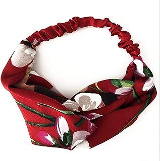 Women Summer Bohemian Hair Bands Print Headbands Retro Cross Turban Bandage Bandanas Hairbands Accessories Headwrap