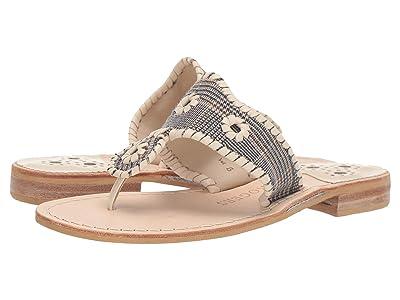 Jack Rogers Jacks Plaid Flat Sandal (Midnight/Tan) Women