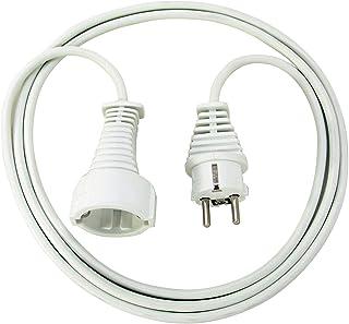 Brennenstuhl Qualitäts- Kunststoff-Verlängerungskabel mit Schutzkontakt-Stecker und -Kupplung Verlängerungskabel für innen mit 2m Kabel weiß