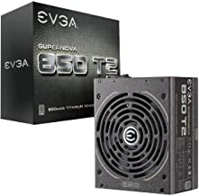 $206 Get EVGA Supernova 850 T2, 80+ Titanium 850W, Fully Modular, ECO Mode, 10 Year Warranty, Includes Free Power On Self Tester, Power Supply 220-T2-0850-X1