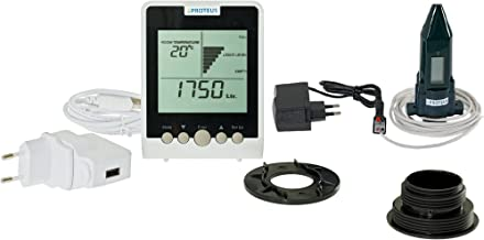 Jauge niveau ultrasonique pour cuves d/'eau de pluies /à /écran emetteur radio EcoMeter S PLUS concu pour r/éservoirs souterrains et zones radio mortes avec une antenne optionnelle externe