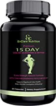 Detox and Colon Cleanse for Weight Loss, Reduce Belly. Extra Strength Diet Pills with Natural Laxatives, Fiber, Acidophilus, Promotes Healthy Bacteria in Intestines 15-Day Colon Cleansing Detox