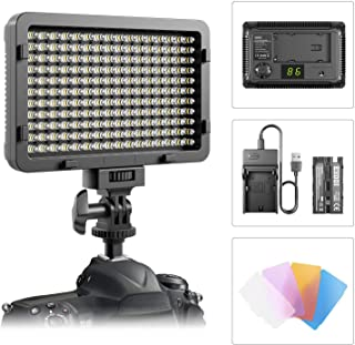 LED Video Light, ESDDI 176 LED Ultra Bright Dimmable Camera Panel Light with Battery and USB Cable for Canon, Nikon, Pentax, Panasonic, Sony, Samsung, Olympus and All DSLR Cameras