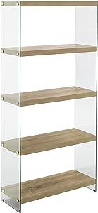 Wink Design Nancy Libreria, 5 Ripiani, Legno, Rovere, 75x29.5x159 cm