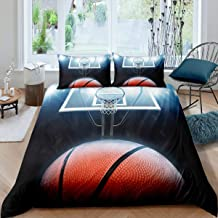مجموعة أغطية السرير Erosebridal لكرة السلة ، غطاء لحاف ألعاب رياضية مقاس مزدوج للأطفال الأولاد والبنات أطفال كرة السلة ، غ...