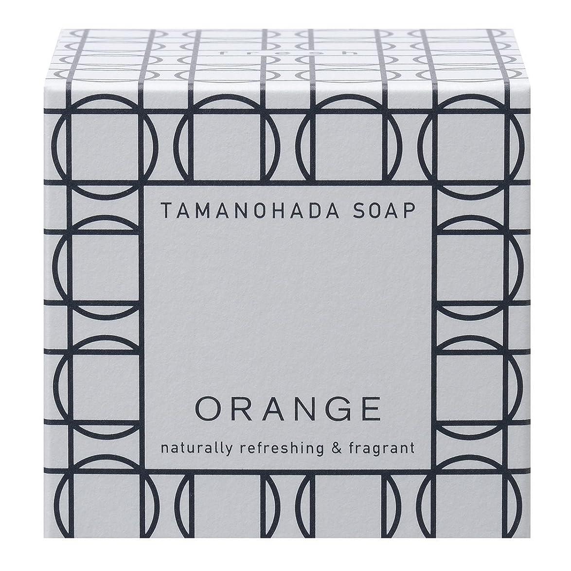 静めるお茶通常タマノハダ ソープ 001 オレンジ 125g