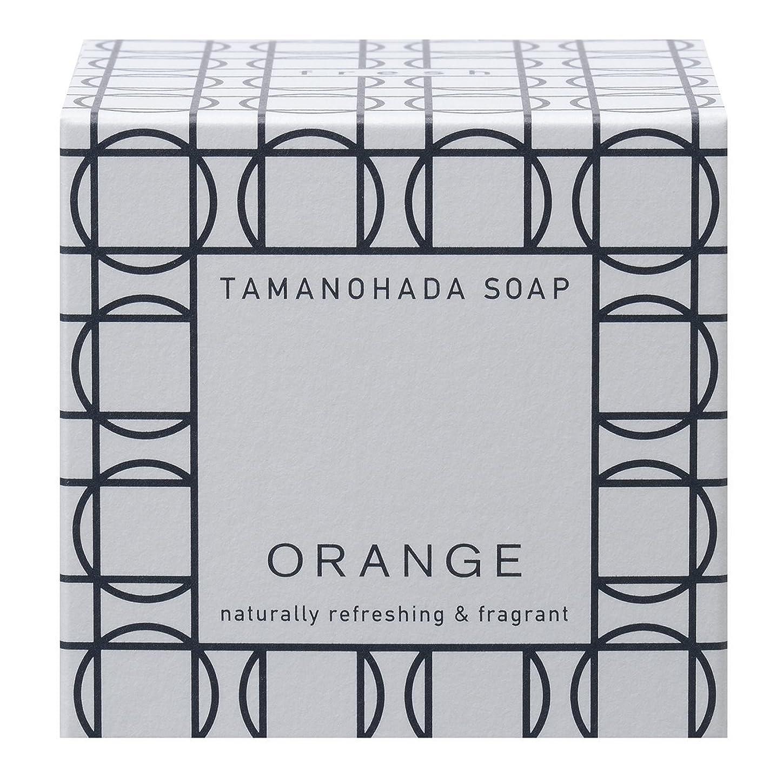 邪悪なメタルライン疑い者タマノハダ ソープ 001 オレンジ 125g