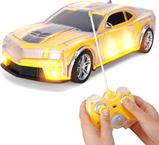 Liberty Imports Light Up RC Remote Control Racing Car - 1:20 Scale Radio Control Car with Flashing LED Lights - Ideal Gift...