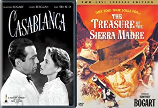 Bogie DVD Movie Collection Casablanca & Special Edition Treasure of Sierra Madre Humphrey Bogart 2-Pack Bundle