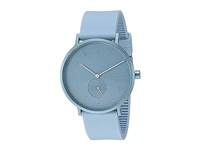 Skagen Aaren Kulor 41mm Three-Hand Silicone Watch (SKW6509 Light Blue Silicone) Watches