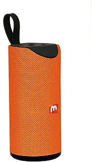 Jiyatech Super Bass Splashproof Wireless Bluetooth Speaker with Mobile/Tablet/Laptop/AUX/Memory Card/Pan Drive/FM (Orange)