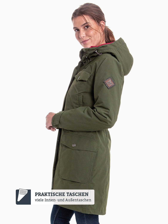Schöffel 3in1 Jacket Storm Range L1, wasserdichte Winterjacke mit herausnehmbarer Inzip Innenjacke, atmungsaktive und warme Regenjacke Damen braun(braun (deep depths))