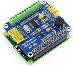 High-Precision AD/DA Expansion Board for Raspberry Pi 4B/3B+/3B/2B/Zero/W/A+ and Jetson Nano,Can Add High-Precision AD/DA Functions to Pi. Onboard ADS1256 8-CH 24bit ADC and DAC8532 2-CH 16bit DAC