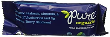 Pure Organic Fruit & Nut Bar, Wild Blueberry, 1.7 Ounce