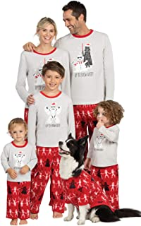 PajamaGram Star Wars Christmas Pajamas - Family PJs Christmas Sets, Red