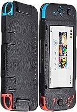 Findway Case for Nintendo Switch Case, Premium PU Leather Cover Case for Nintendo Switch Accessories (Black)